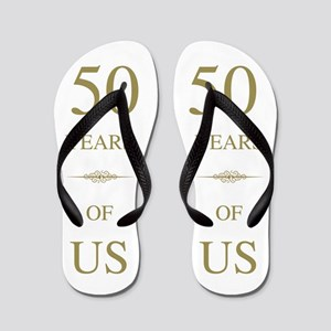50th Wedding Anniversary Flip Flops