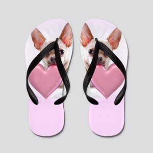 Pink Chihuahua dog Flip Flops