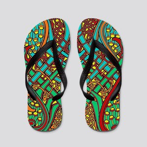 Celtic Birds Flip Flops