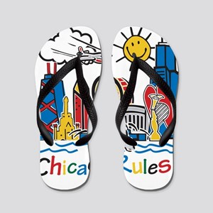 Chicago Rules Flip Flops