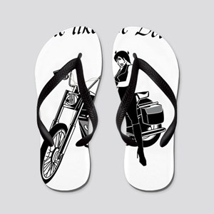 Ride like the devil Flip Flops