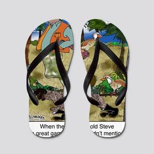 8485_dog_cartoon Flip Flops