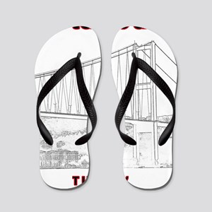 Istanbul_12x12_BosphorousBridge_BlackR Flip Flops