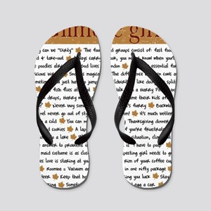 Gilmore Life Lessons square Flip Flops
