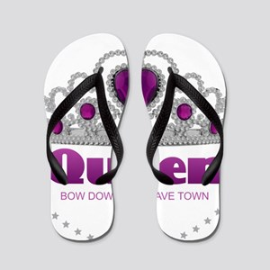 Bow Down or Leave Town Flip Flops