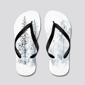Winter Trees Flip Flops