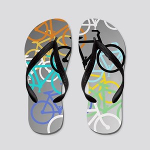Colored Bikes Design Flip Flops