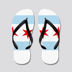 Flag of Chicago Flip Flops