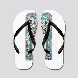 Lord Pacal the Rocket Man 2 Flip Flops