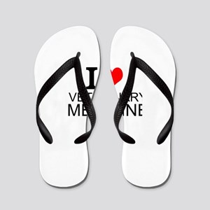 I Love Veterinary Medicine Flip Flops