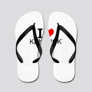 I Love Kentucky Flip Flops