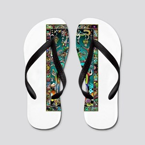 Lord Pacal the Rocket Man Flip Flops