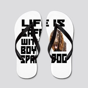 Life Is Safe With A Boykin Spaniel Flip Flops
