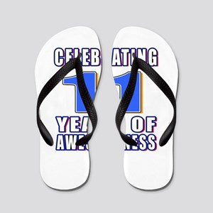 11 Years Of Awesomeness Flip Flops
