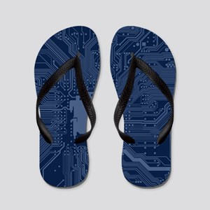 Blue Geek Motherboard Circuit Pattern Flip Flops