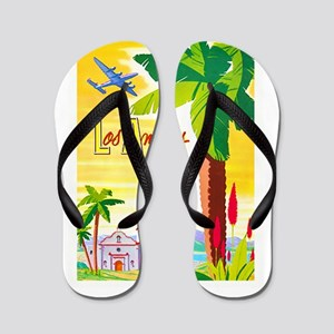 Los Angeles Travel Poster 2 Flip Flops