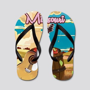 Missouri vintage cartoon travel poster Flip Flops