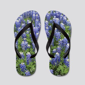Field of Bluebonnets Flip Flops