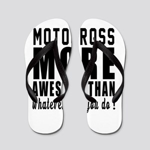 Motocross More Awesome Designs Flip Flops