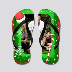 Personalizable Christmas Photo Frame Flip Flops