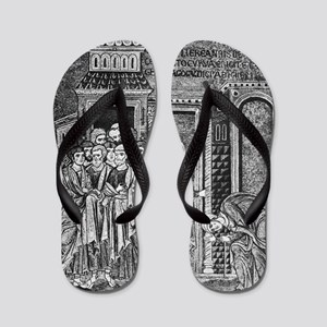Jesus the healer, 12th century Flip Flops