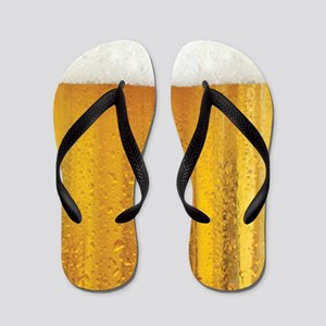 Funny Beer And Foam Flip Flops