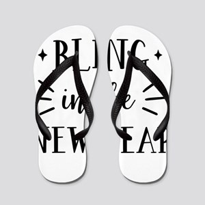 Bling In The New Year Flip Flops
