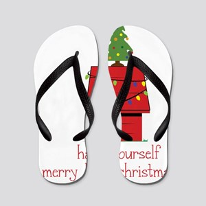Merry Little Christmas Flip Flops