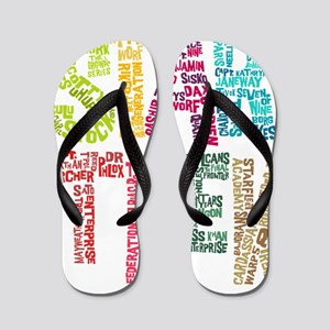 Cast Names-BLANK NO WHITE Flip Flops