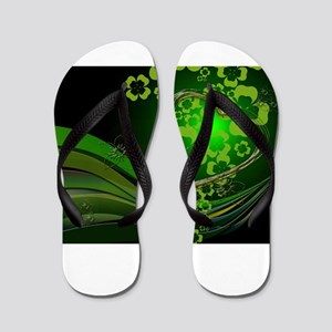 Heart And Shamrocks Flip Flops