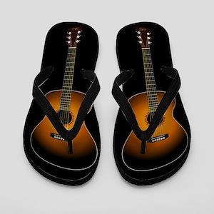 e2e9fa218925 Acoustic Guitar Flip Flops (black)