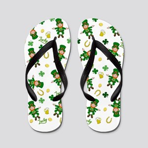 St Patricks day pattern Flip Flops