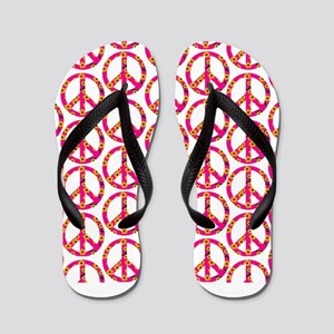 cd36480d335ea4 Peace Sign Print Orange Cherry Blossom Flip Fl
