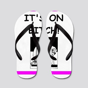 ice curling joke Flip Flops