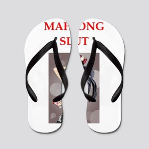 82e92ed296a52 Mah Jongg Flip Flops - CafePress