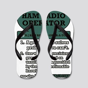 Ham Radio Clip Art Laundry Thongs - CafePress