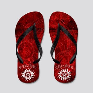 Supernatural Red Flip Flops