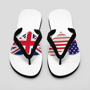68743d7829 USA and UK Heart Flag Flip Flops. $19.99,. black union jack ...