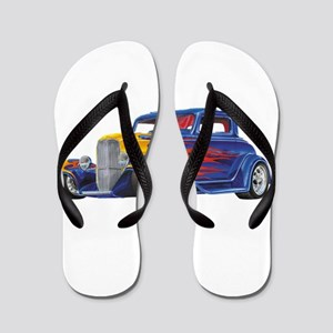 Flame Out Hot Rod Flip Flops