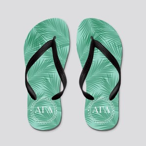 Alpha Gamma Delta Leaves Flip Flops