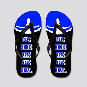 Cheerleader Blue And Black Flip Flops