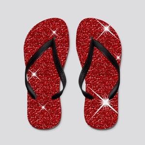 Red Ruby Slippers Flip Flops