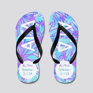 Alpha Gamma Delta Tropical Purple Flip Flops