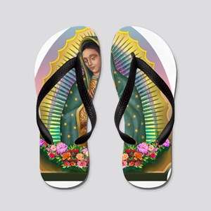 Guadalupe Yellow Aura Flip Flops