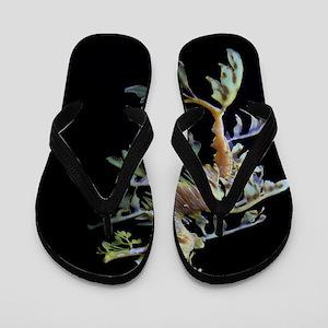 8866e16c0eba7 Leafy Dragon Flip Flops - CafePress