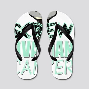 Screw Ovarian Cancer Flip Flops