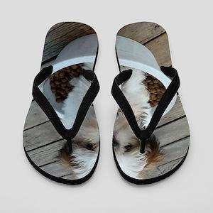 cf95a9462b4 Shih Tzu Tote Flip Flops - CafePress