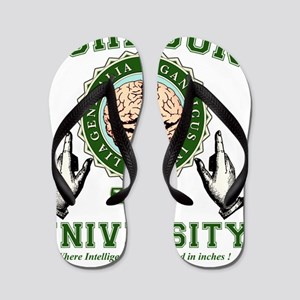 JOHNSON UNIVERSITY-grn Flip Flops