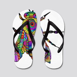 Painted Bee Flip Flops