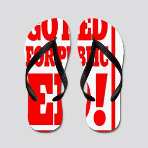 INDIANA GO RED for public ED rectangle Flip Flops